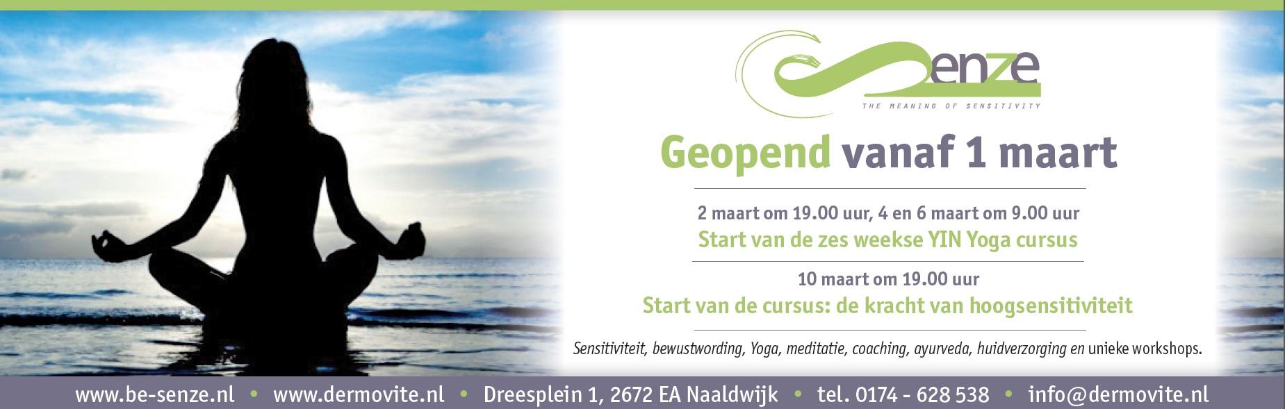 Be Senze opening 1 maart